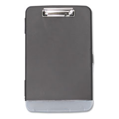 "Storage Clipboard w/Pen Compartment, 1/2"" Capacity, 8 1/2 x 11, Black"