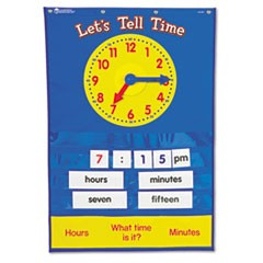 Teaching Time Pocket Chart with 67 Cards, 23 x 34