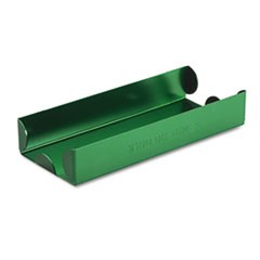 Rolled Coin Aluminum Tray w/Denomination & Quantity Etched on Side, Green