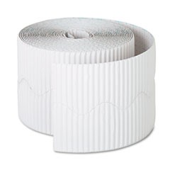 "Bordette Decorative Border, 2 1/4"" x 50' Roll, White"