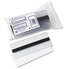 Clear Magnetic Label Holders, Side Load, 6 x 2-1/2, Clear, 10/Pack