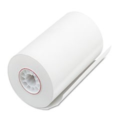 "Single Ply Thermal Cash Register/POS Rolls, 3 1/8"" x 90 ft., White, 72/CT"