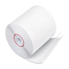 "Paper Rolls, Two Ply Receipt Rolls, 3"" x 90 ft, White/White, 50/Carton"