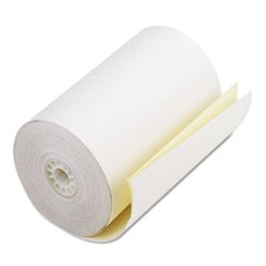 "Two Ply Receipt Rolls, 4 1/2"" x 90 ft, White/Canary, 24/Carton"
