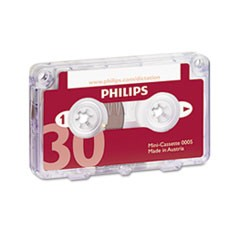 Audio & Dictation Mini Cassette, 30 Minutes (15 x 2), 10/Pack