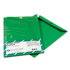 Fashion Color Clasp Envelope, 9 x 12, 28lb, Green, 10/Pack