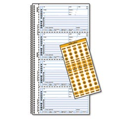 Wirebound Message Book, 5 x 2 3/4, Two-Part Carbonless, 400 Forms, 120 Labels