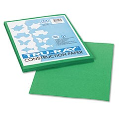 Tru-Ray Construction Paper, 76 lbs., 9 x 12, Holiday Green, 50 Sheets/Pack