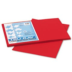 Tru-Ray Construction Paper, 76 lbs., 12 x 18, Holiday Red, 50 Sheets/Pack