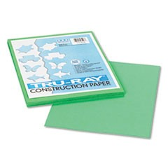 Tru-Ray Construction Paper, 76 lbs., 9 x 12, Festive Green, 50 Sheets/Pack
