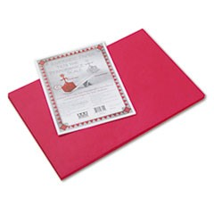 Riverside Construction Paper, 76 lbs., 12 x 18, Red, 50 Sheets/Pack