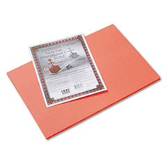 Riverside Construction Paper, 76 lbs., 12 x 18, Orange, 50 Sheets/Pack