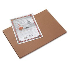 Riverside Construction Paper, 76 lbs., 12 x 18, Brown, 50 Sheets/Pack