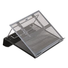 Laptop Stand/Holder, 13w x 11 3/4d x 6 3/4h, Black/Silver