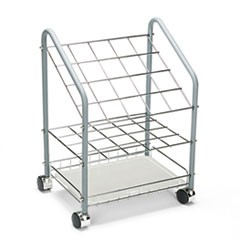 Wire Roll/File, 20 Compartments, 18w x 12-3/4d x 24-1/2h, Gray