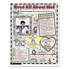 "Instant Personal Poster Sets, Read All About Me, 17"" x 22"", 30/Pack"