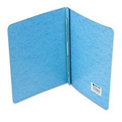 "Presstex Report Cover, Side Bound, Prong Clip, Letter, 3"" Cap, Light Blue"