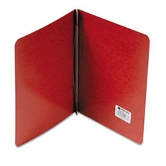 "Presstex Report Cover, Side Bound, Prong Clip, Letter, 3"" Cap, Red"