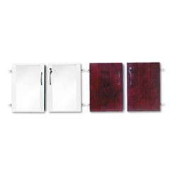 Doors for Veneer Low Wall Cabinet, Mahogany/Glass, 4/Set