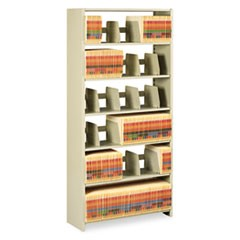 Snap-Together Steel Six-Shelf Closed Starter Set, 36w x 12d x 76h, Sand