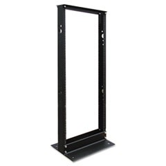 SR2POST25 25U 2-Post Open Frame Rack Threaded Holes 800lb Capacity