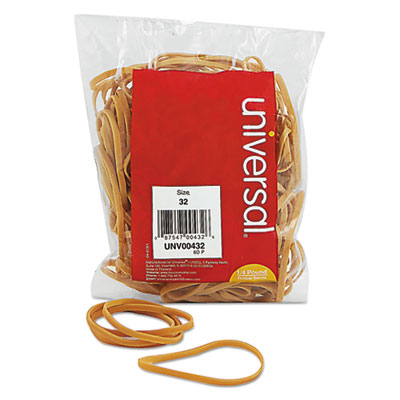 Rubber Bands, Size 32, 3 x 1/8, 205 Bands/1/4lb Pack