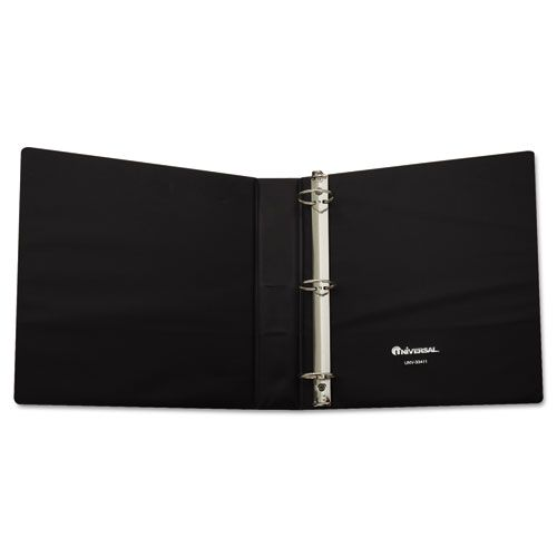Economy Non-View Round Ring Binder With Label Holder, 1-1/2