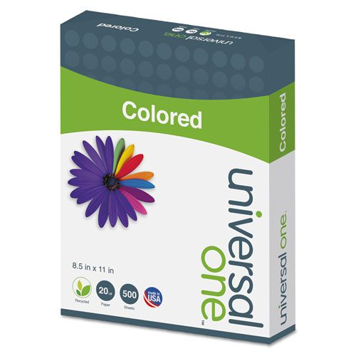 Colored Paper, 20lb, 8-1/2 x 11, Canary, 500 Sheets/Ream