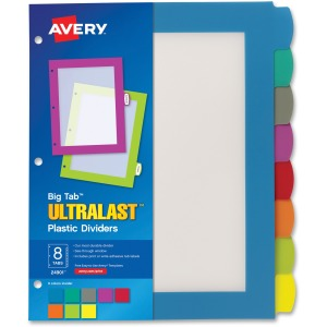 Avery&reg Big Tab Ultralast Plastic Dividers