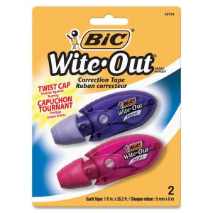 BIC Wite-Out Mini Correction Tape 2-pack