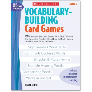 Scholastic Res. Gr 2 Vocab. Bldg. Card Games Book Education Printed Book by Liane B. Onish - English