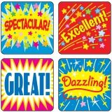 STICKERS POSITIVE WORDS 120/PK ACID  & LIGNIN FREE