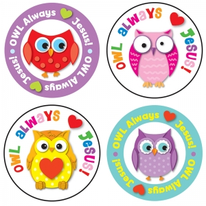 OWL ALWAYS LOVE JESUS STICKERS
