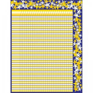 INCENTIVE CHARTLET GOLD/SILVER STAR  17 X 22 INCENTIVE
