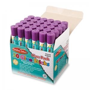 ECONOMY GLUE CLASSPACK .28 OZ 30CT  PURPLE