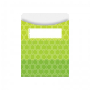 OMBRE LIME GREEN HEXAGONS LIBRARY  POCKETS - PAINT