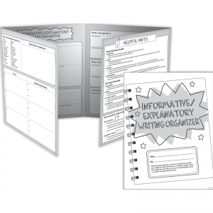 INFORMATIVE EXPLANATORY WRITING  ORGANIZER FOLD OUTS GR 4-5 30 SETS