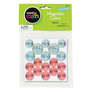 MAGNET COINS - 8 QUARTERS 12 DIMES  12 NICKELS & 40 PENNIES