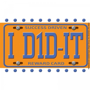 LICENSE PLATE REWARD PUNCH CARDS