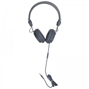 TRRS HEADSETS INLINE MICROPHONE GRY