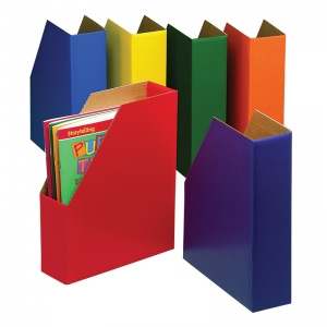 MAGAZINE FILES 6/PK ONE EACH GREEN  BLUE ORANGE PURPLE RED AND YELLOW