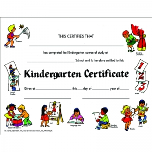 CERTIFICATES KINDEGARTEN SET OF 30