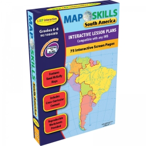MAP SKILLS SOUTH AMERICA  INTERACTIVE WHITEBOARD SOFTWARE