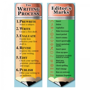 THE WRITING PROCESS AND EDITORS  MARKS BOOKMARKS