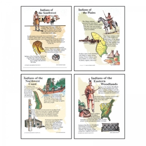 POSTER SET NORTH AMERICAN INDIANS  GR 4-9