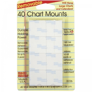 MAGIC MOUNTS CHART MOUNTS 1IN X 1IN  PACK OF 40