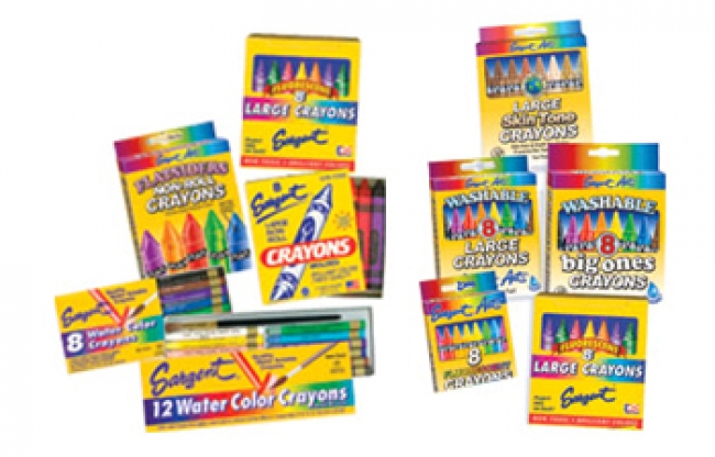 FLATSIDERS NO-ROLL CRAYONS 8 COUNT