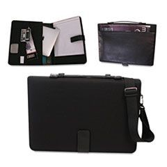 Tablet Case/Organizer with Writing Pad, 14-3/4 x 2, x 10-1/4, Black
