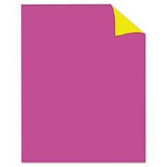 Two Cool Poster Board, 22 x 28, Fluorescent Pink/Canary, 25/PK