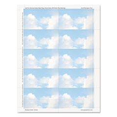 Clouds Design Business Suite Cards, 3 1/2 x 2, 65 lb Cardstock, 250 Cards/Pack